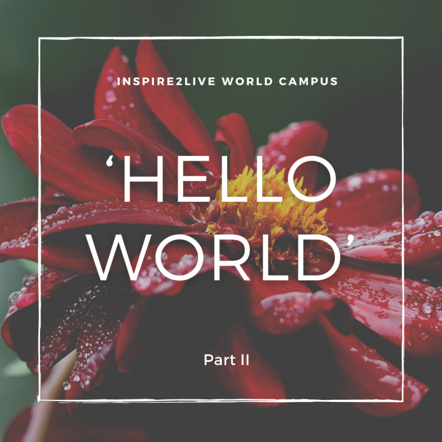 Hello World - Part II